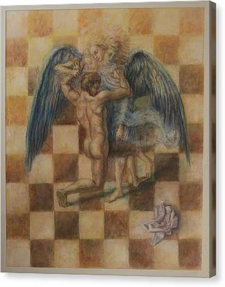 Jacob Wrestling The Angel Canvas Print