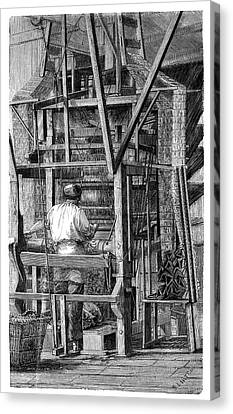 Loom Canvas Print - Jacquard Loom by Science Photo Library