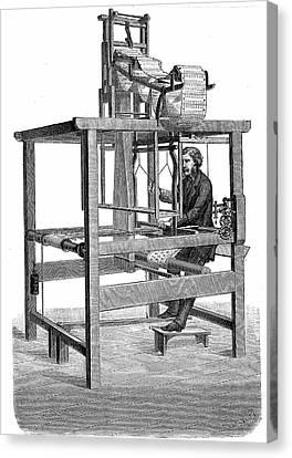 Jacquard Loom Canvas Print by Universal History Archive/uig