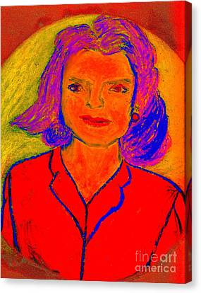 Jacqueline Kennedy Dallas Canvas Print by Richard W Linford