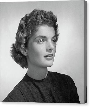 American First Lady Canvas Print - Jacqueline Kennedy Onassis by Horst P. Horst