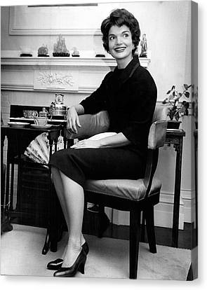 Jacqueline Kennedy Sitting Pretty Canvas Print by Retro Images Archive
