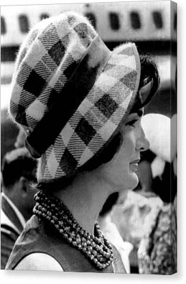 First Lady Canvas Print - Jacqueline Kennedy by Underwood Archives