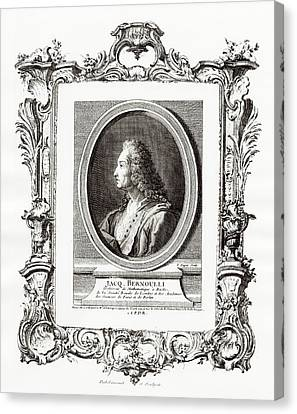 Jacques Bernoulli Canvas Print by Print Collection, Miriam And Ira D. Wallach Division Of Art, Prints And Photographs/new York Public Library