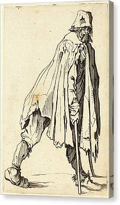 Jacques Callot French, 1592 - 1635, Beggar With Crutches Canvas Print by Quint Lox