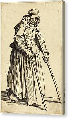 Jacques Callot French, 1592 - 1635, Beggar Woman Canvas Print by Quint Lox