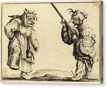 Jacques Callot French, 1592 - 1635, Dancers With Lute Canvas Print by Quint Lox