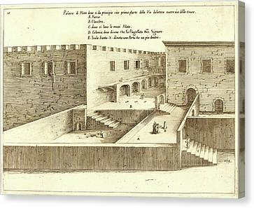 Jacques Callot, French 1592-1635, House Of Pilate Canvas Print