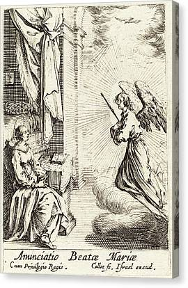 Jacques Callot French, 1592 - 1635, The Annunciation Canvas Print by Quint Lox
