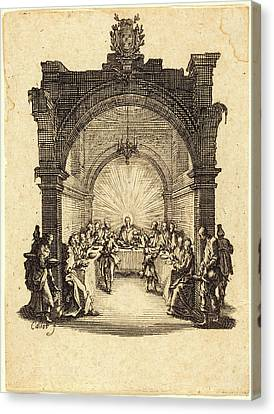 Jacques Callot, French 1592-1635, The Last Supper Canvas Print by Litz Collection