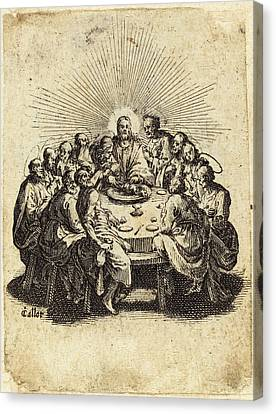Jacques Callot French, 1592 - 1635, The Last Supper Canvas Print by Quint Lox