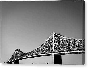 Jacques Cartier Bridge Montreal Metro 1 Canvas Print by Eric Soucy