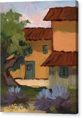 Jacques Farm In Provence Canvas Print by Diane McClary