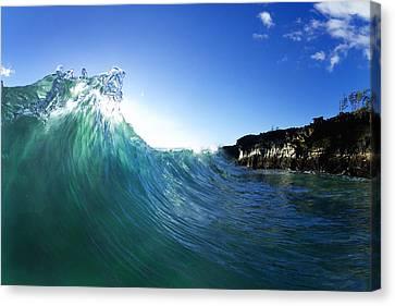 Clean Water Canvas Print - Jade Crystal by Sean Davey