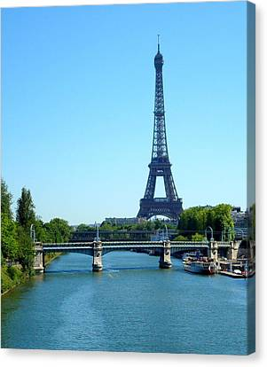 Canvas Print featuring the photograph J'adore Paris by Kay Gilley