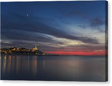 Canvas Print featuring the photograph Jaffa On Ice by Ron Shoshani