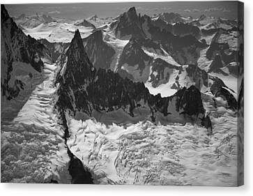 Jagged Magnificence Canvas Print by Roger Clifford