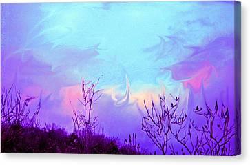 Jagged Sky Canvas Print by Crystal Harman