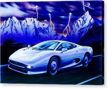Jaguar 220 Canvas Print by Garry Walton