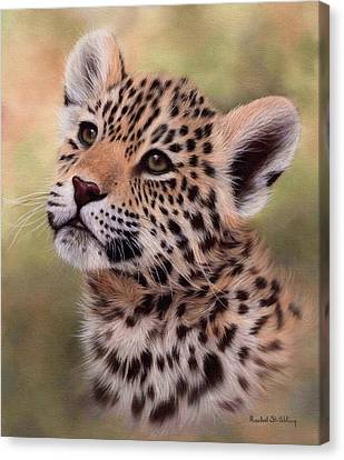 Jaguar Cub Painting Canvas Print by Rachel Stribbling