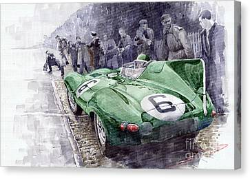 Jaguar D-type  1955 Le Mans  Canvas Print