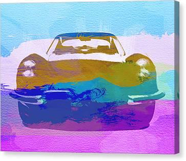 Jaguar E Type Front Canvas Print by Naxart Studio