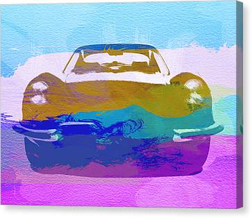 British Classic Cars Canvas Print - Jaguar E Type Front by Naxart Studio