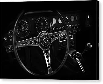 Jaguar E Type Interior Canvas Print