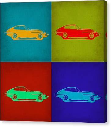 Jaguar E Type Pop Art 1 Canvas Print by Naxart Studio