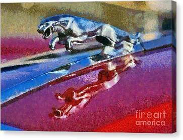 Jaguar V12 Badge Canvas Print by George Atsametakis