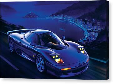 Jaguar Xjr-15 Canvas Print by Garry Walton