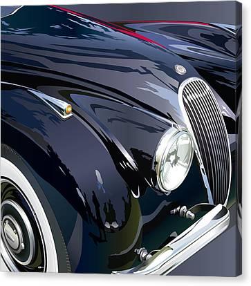 Jaguar Xk 120se R Detail Canvas Print by Alain Jamar