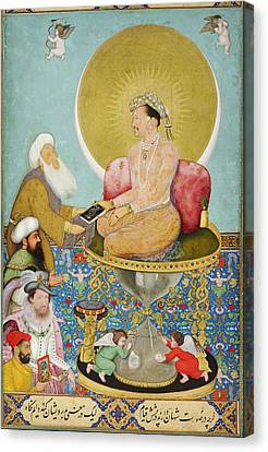 Jahangir Preferring A Sufi Sheikh To Kings Canvas Print by Celestial Images