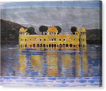 Canvas Print featuring the painting Jai Mahal by Vikram Singh