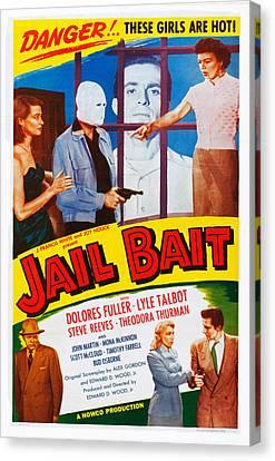 Jail Bait, Lyle Talbot Bottom Left Canvas Print by Everett