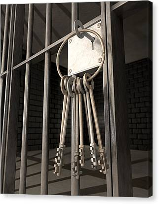 Jail Cell Blues Canvas Print by Allan Swart