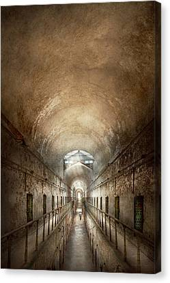Jail - Eastern State Penitentiary - End Of A Journey Canvas Print by Mike Savad