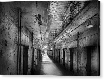 Jail - Eastern State Penitentiary - The Forgotten Ones  Canvas Print by Mike Savad