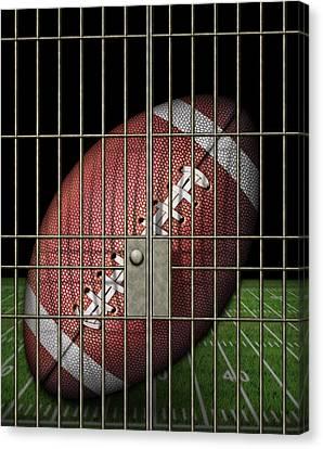 Jailed Football Canvas Print by James Larkin