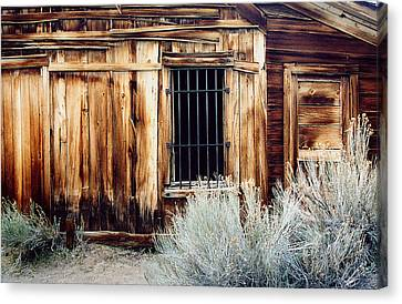 Canvas Print featuring the photograph Jailhouse In Bodie State Park California by Mary Bedy