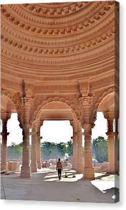 Jain Temple Entrance - Amarkantak India Canvas Print by Kim Bemis