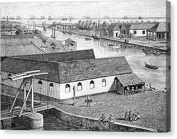 Colonial Man Canvas Print - Jakarta Port by Bildagentur-online/tschanz