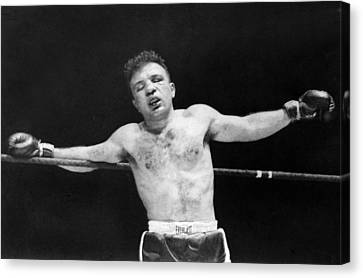 Man Ray Canvas Print - Jake raging Bull Lamotta by Underwood Archives