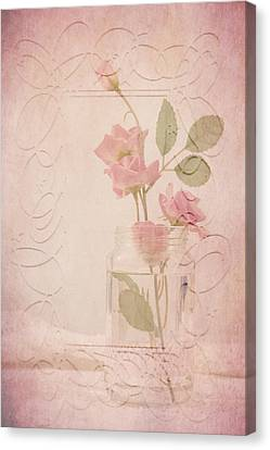 Jam Jar Roses  Canvas Print