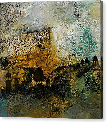 Abstract Art On Canvas Print - Jama Masjid by Corporate Art Task Force