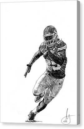 Jamaal Charles Canvas Print by Joshua Sooter