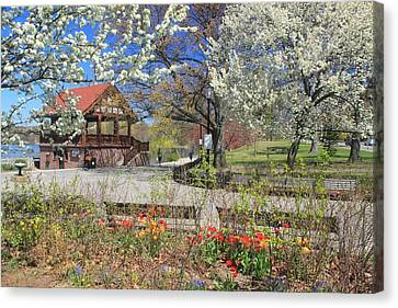 Jamaica Pond Boston In Spring Canvas Print by John Burk