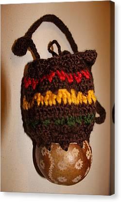 Jamaican Coconut And Crochet Shoulder Bag Canvas Print by MOTORVATE STUDIO Colin Tresadern