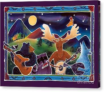 Batik Canvas Print - Jamboree by Harriet Peck Taylor