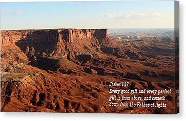 James 1-17 Canyonlands N P Canvas Print